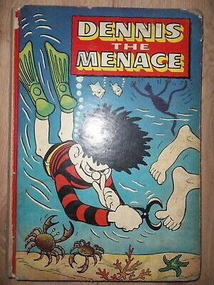 Lot of 4 Vintage Comic Strip Annuals Dennis the Menace 1960-2 Beezer 1962; Beano