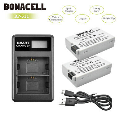 2x Battery LP-E8 for Canon EOS 550D 600D 700D Kiss X4 X5 Rebel T2i +Dual Charger
