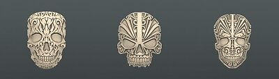 3d STL models for CNC, Artcam, Aspire, relief skull