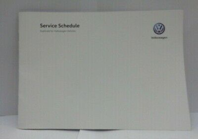 Genuine Volkswagen Replacement Service Book (VVWSD1)