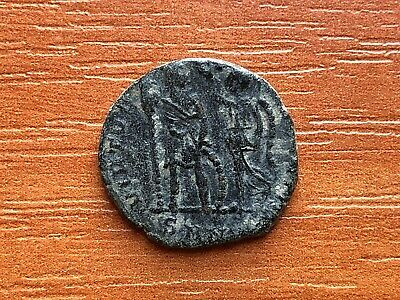 "Honorius 393-423 AD AE3 ""Victory Crowned Emperor"" Ancient Roman Coin"