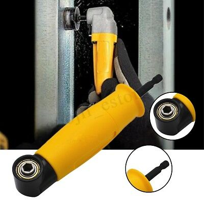 Right Angle Drill Attachment Chuck Adapter Electric Power Cordless 90 Degree