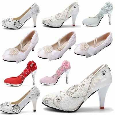 Women Glitter High Heels Wedding Bridal Pumps Gorgeous Crystal Party Sandals