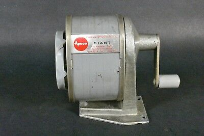 VINTAGE Apsco Giant 5-Hole Revolving Wall Table Bench Mount Pencil Sharpener
