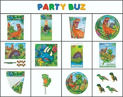 DINOSAUR Jurassic Birthday Party Range - Tableware Banners  Decorations