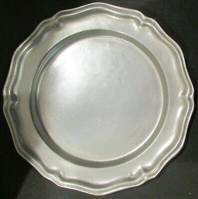 Vintage Wilton RWP Pewter Queen Anne Dinner Serving Plate