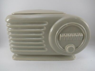 Transistor Radio Cookie Jar Green by Essentials of Japan Ceramic VGUC