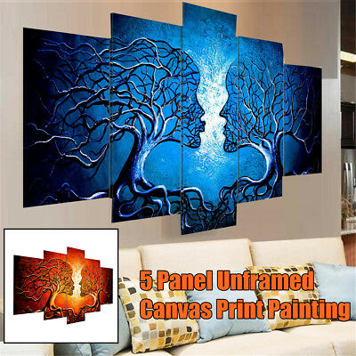 Modern Abstract Tree Love Art Canvas Prints Painting Picture Home Wall Decor