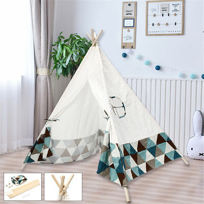 Portable White Kids Tent Playhouse Sleeping Dome Indoor/Outdoor Children Teepee