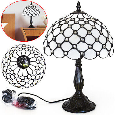 Stained Glass TIFFANY Style Table Desk Bedside Home Decor Lamps Lamp Light UK