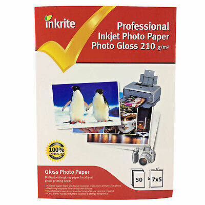 Inkrite Photo Plus Professional Paper Photo Gloss 210gsm 7x5 (50 sheets)