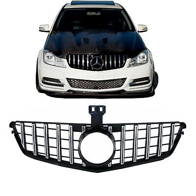 Grille for Mercedes C-Class W204 S204 07-14 AMG GT-R Panamericana Design Chrome