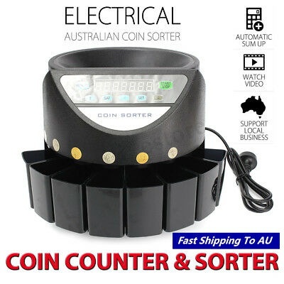 LED Display Digital Automatic Electronic Australian Coins Counter Sorter Machine