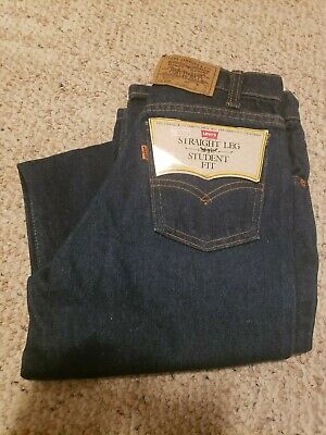 Vintage NOS Levi's 705 Jeans W 26 L 32 Student Boy's 80s Blue Denim Orange Tab