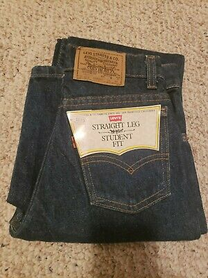 Vintage NOS Levi's 705 Jeans W 25 L 32 Student Boy's 80s Blue Denim Orange Tab