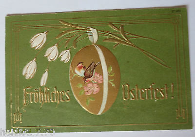 """"""" Easter,Lily of the Valley,Easter Egg Bird Art Nouveau """" 1908,Embossed Postcard"""