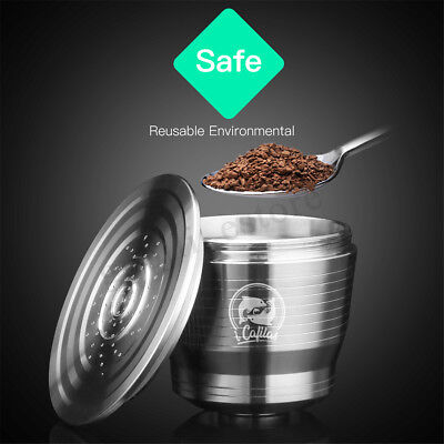Stainless Steel Coffee Capsule Cup Reusable Refillable For Nespresso U Machine