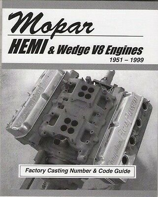 CHEVY CORVETTE CASTING ID Number & Engine Code Book - $17 91