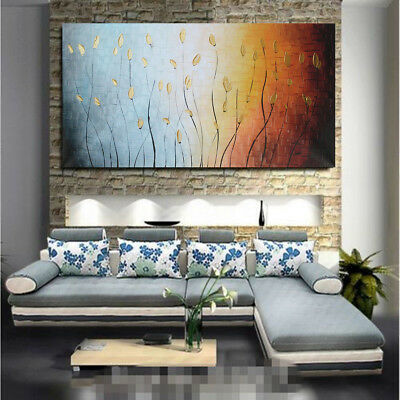 Unframed Abstract Leaves Art Canvas Painting Oil Print Picture Wall Home Decor