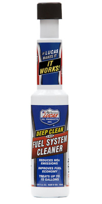 Lucas Deep Clean Fuel System Cleaner 155ml - reduces NOx emissions - PETROL ONLY