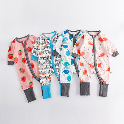 2019 Baby Newborn Infant Kid Boy Girl Long Sleeve Cotton Zipper Romper Babygrow