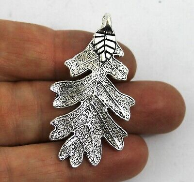 Antique Silver Tibetan alloy CHEESE PLANT LEAF Charms Pendant Bead Craft Card