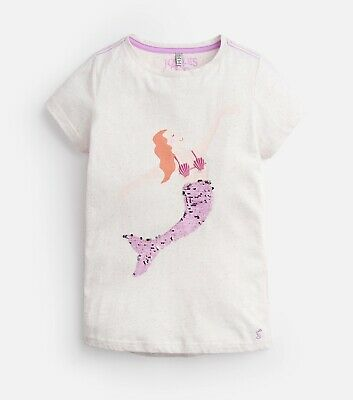 low priced eeed1 f983a TOM JOULE T-SHIRT Astra Meerjungrau Mit Wende Pailletten Joules Mädchen