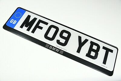 1 x Luxury Black Stainless Steel Number Plate Holder Surround Frame for BMW