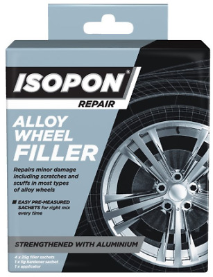 Isopon Alloy Wheel Filler - with real aluminium for scratches / scuffs