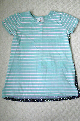 4 Hanna Andersson Shirt Girls Size 100 Euc Pink Gold Green Stripe Adorable!