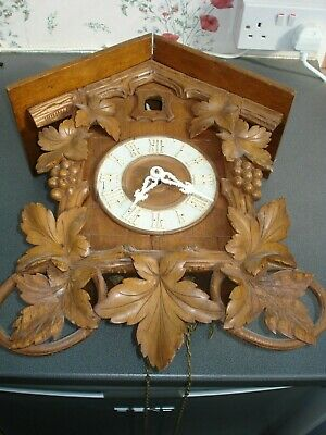 "Antique Large Cuckoo Clock 17 1/2"" High For Restoration Parts Spares"