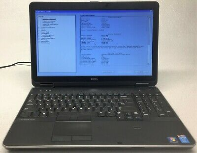 DELL LATITUDE E6540 i7-4810MQ 2 8GHz 8GB RAM NO HDD POWERS ON *BOOTS TO  BIOS*