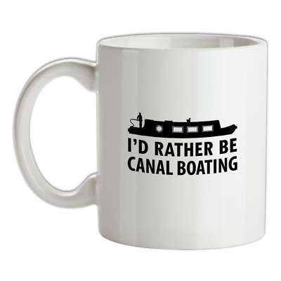 I'd Rather Be Canal Boating Mug - Narrowboat - Narrow Boat - Holiday