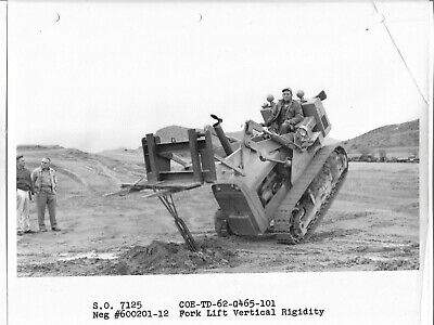 USNCBC Navy testing at Phoenix site in 1963 of internation Crawler Tractor TD-62