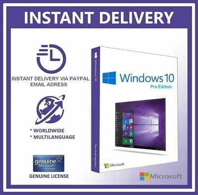 Microsoft Windows 10 Professional 32/64 Bit Win Pro Activation Key GENUINE CODE
