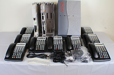Lucent Avaya Partner ACS R8 Phone System w/(9) 18D II Telephones,VM,AA & More...