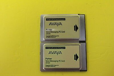 (2) AVAYA Partner Voice Messaging PC Card (Small) 700226517 DEFAULTED BACK