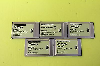 Lot of 5 Avaya Partner Large Card VM Voicemail for ACS - DEFAULTED WITH WARRANTY
