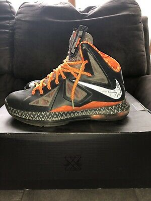 "new arrival 10d99 ea673 Nike Lebron 10 (X) ""Black History Month"" (BHM) Size 9"