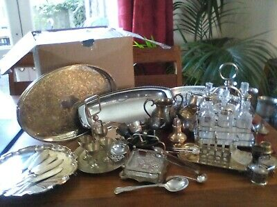 A Vintage Silver Plated Job Lot - 9 Kg