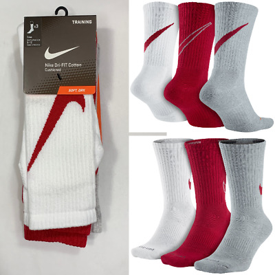 72548f88102c5 NEW MEN'S NIKE 3-pack Dri-FIT Swoosh Performance Crew Socks SX4950 ...