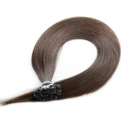 "20"" Indian 4A Grade Remy Nail / U Tip Pre Bonded Hair Extensions #4 Choc Brown"