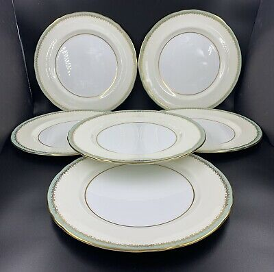 Aynsley Glenwood Nile 1170 Dinner Plates Set Of 6 Bone China 10.25""