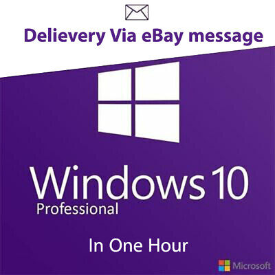 Instant Windows 10 Pro 32/64 Bit Win 10 Pro Original Genuine Activation Key