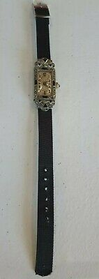 Vintage Relion Swiss Art Deco Ladies Wrist Watch ◇ Faux Diamonds Sapphires ?