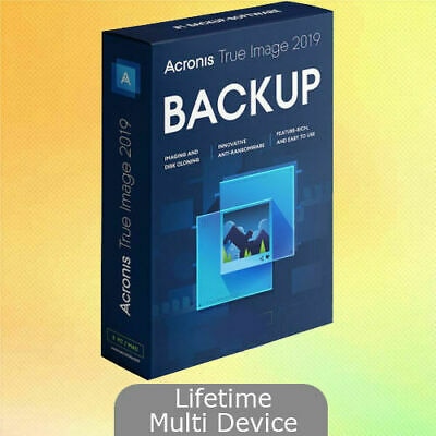 NEW Acronis True Image 2019 Win+ISO Bootable Lifetime Multi Devices