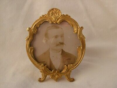 ANTIQUE FRENCH GILT BRONZE PHOTO FRAME,LOUIS XV STYLE,LATE 19th CENTURY.