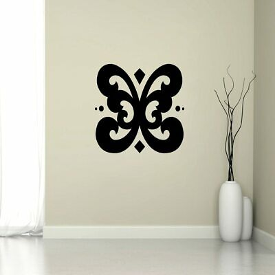 Butterfly Flourish Wall Decal - Bugs, Insects, Flowers and Shapes, Wall Accents