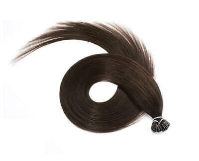 "18"" Indian 4A Grade Remy Stick I Tip Pre Bonded Hair Extensions #2 Dark Brown"