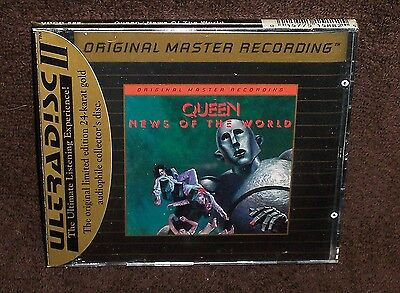 Sealed Mfsl Gold Cd - Queen - News Of The World - Mobile Fidelity - Mofi